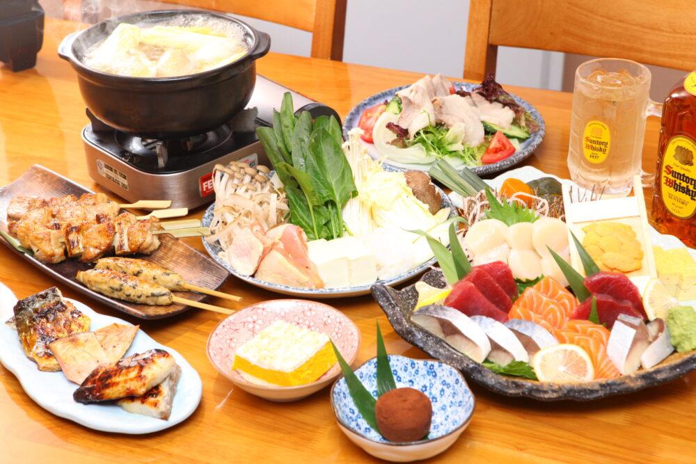 日本料理屋のコース料理250元(約4000円)の写真