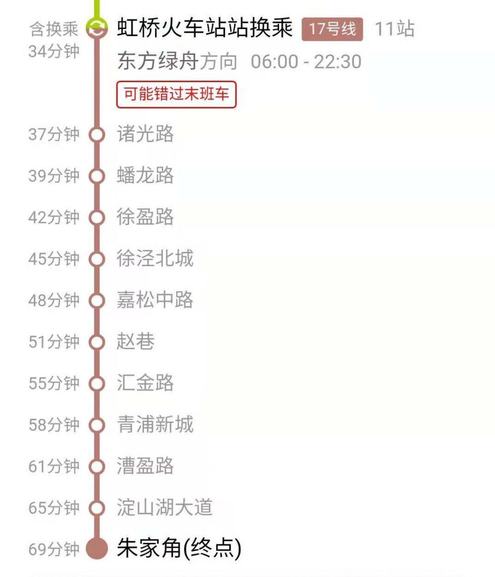 上海市内(人民広場)から朱家角までの行き方の詳細の写真②
