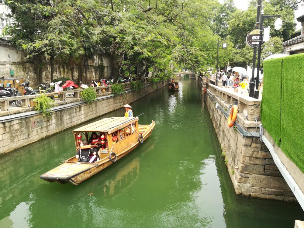 平江歴史街区の運河の様子