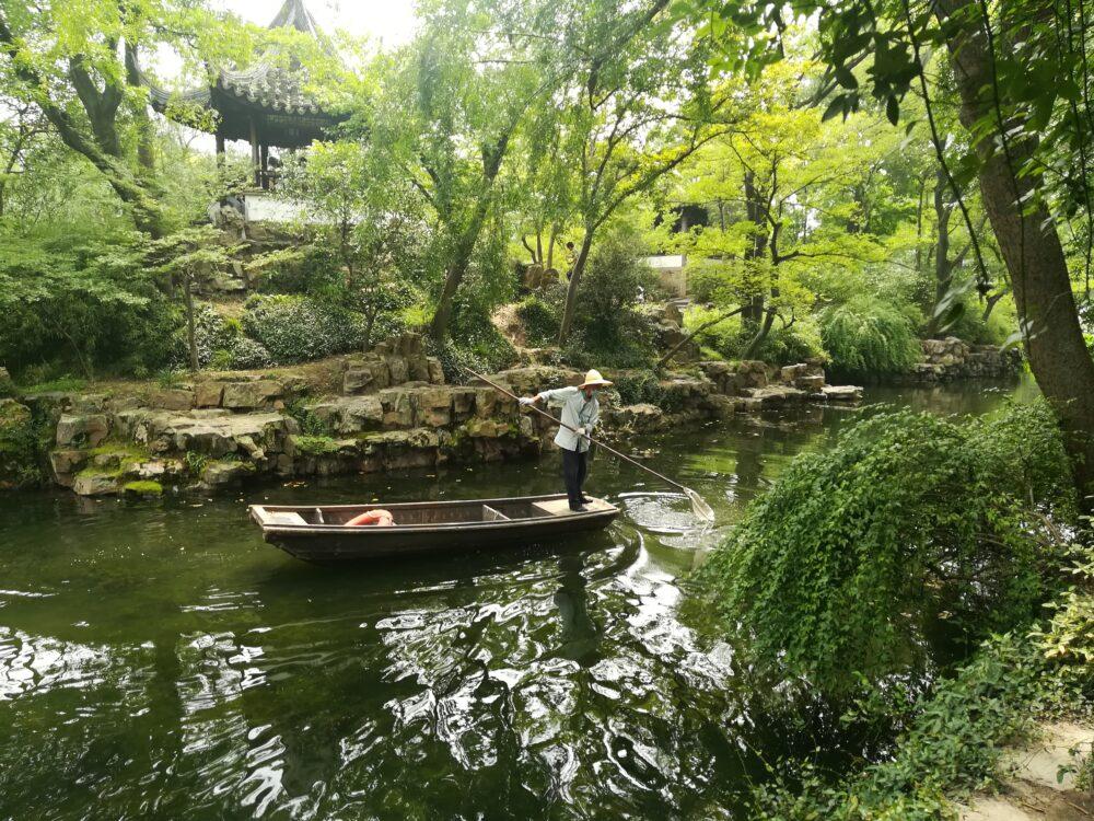 拙政園の庭園の写真
