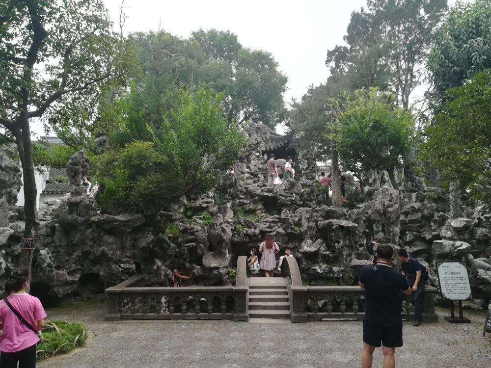 獅子林の庭園の様子の写真②