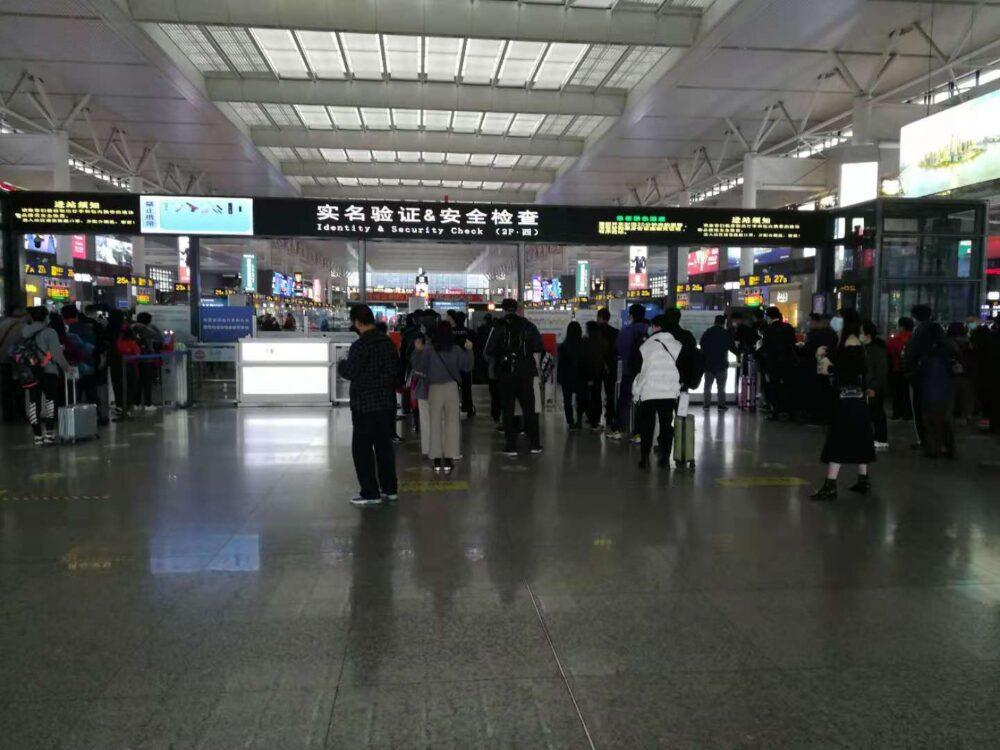 虹橋新幹線の入口の様子の写真