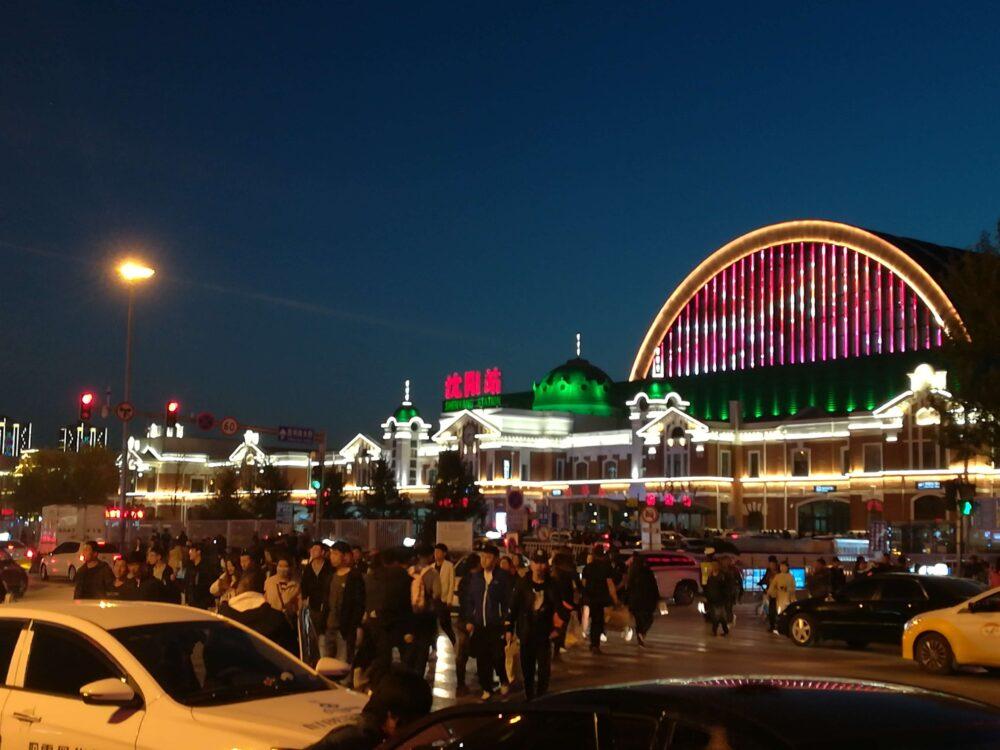 瀋陽の街並みの様子の写真