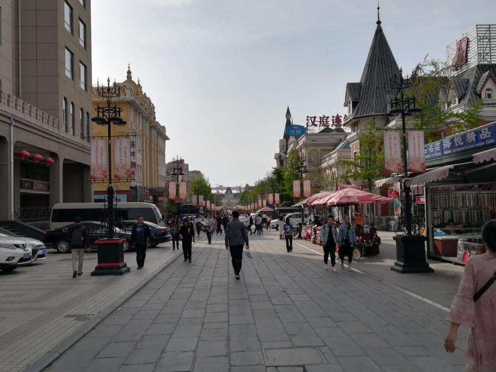 大連の街並みの様子の写真