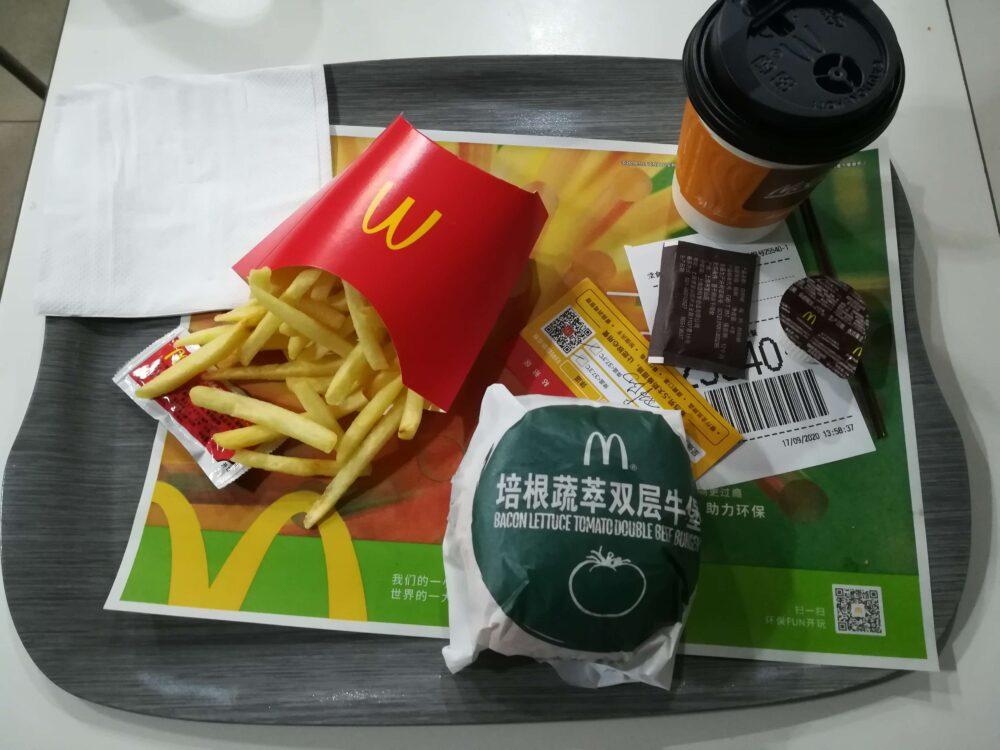 上海のマクドナルドセットの写真
