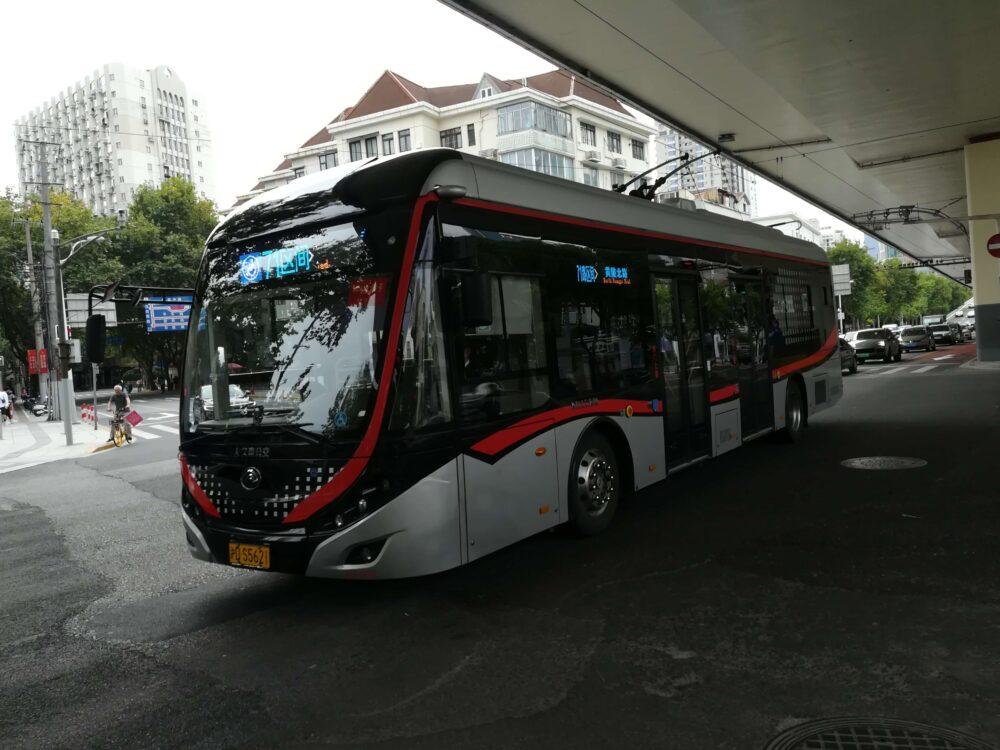 上海のバスの様子の写真