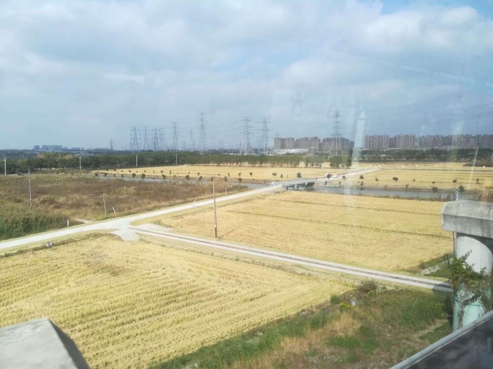 上海地下鉄17号線からの風景の写真