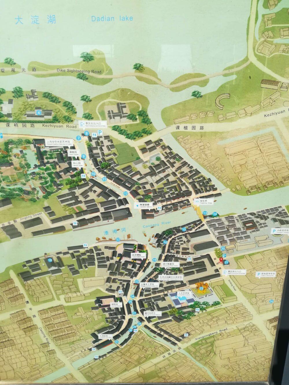 朱家角の地図の写真