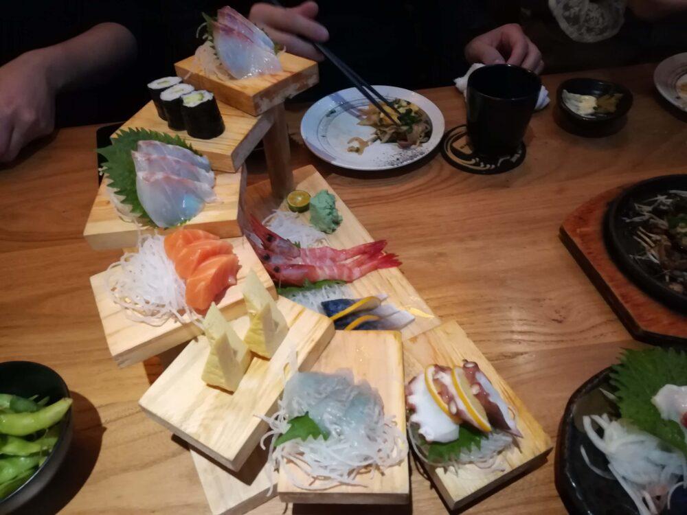 中国で食べる日本食の写真