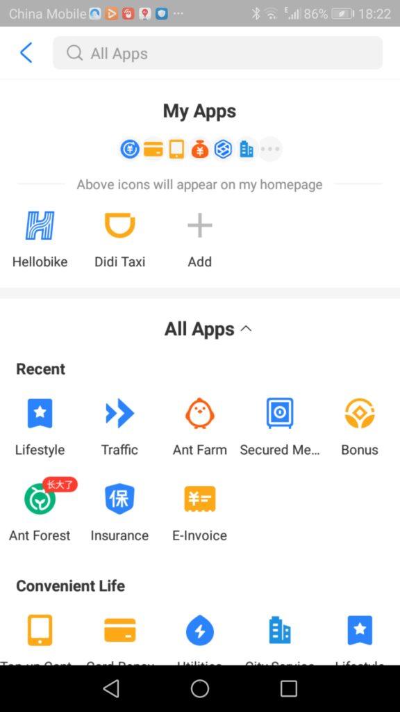 Didi Taxiというアプリを使ってタクシーを拾う画面の写真