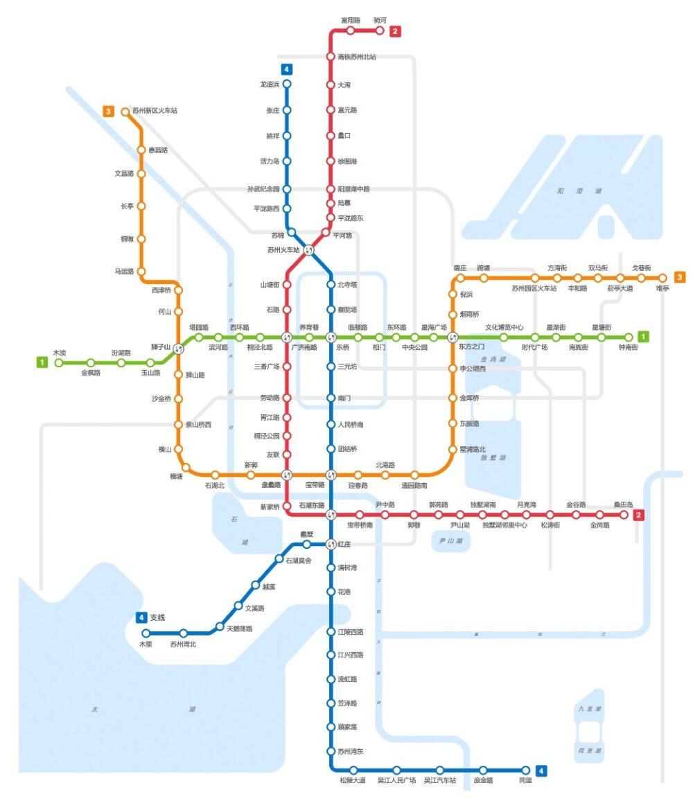 蘇州の地下鉄マップの写真