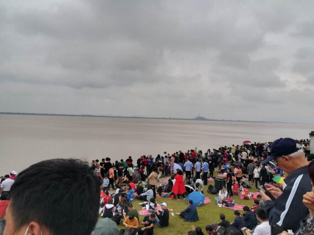 銭塘江の逆流観賞スポットの写真⑤